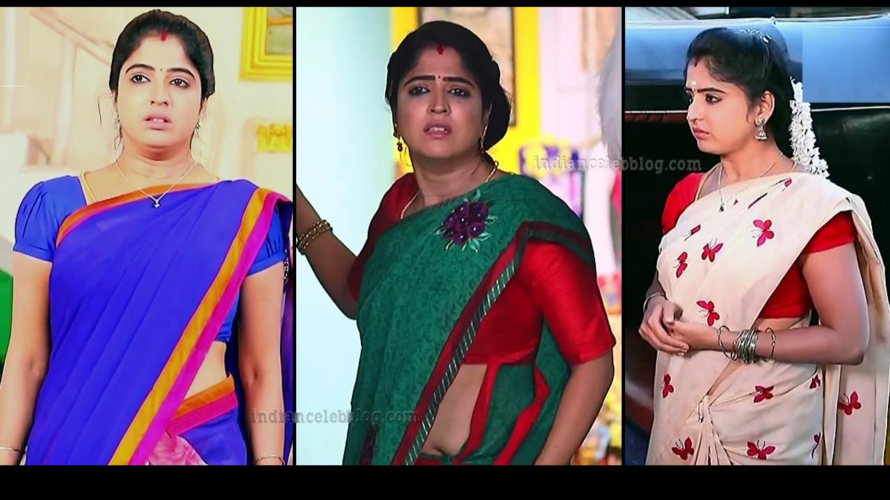 Shyamili Nayar Devathaiyai kanden tamil serial actress saree caps