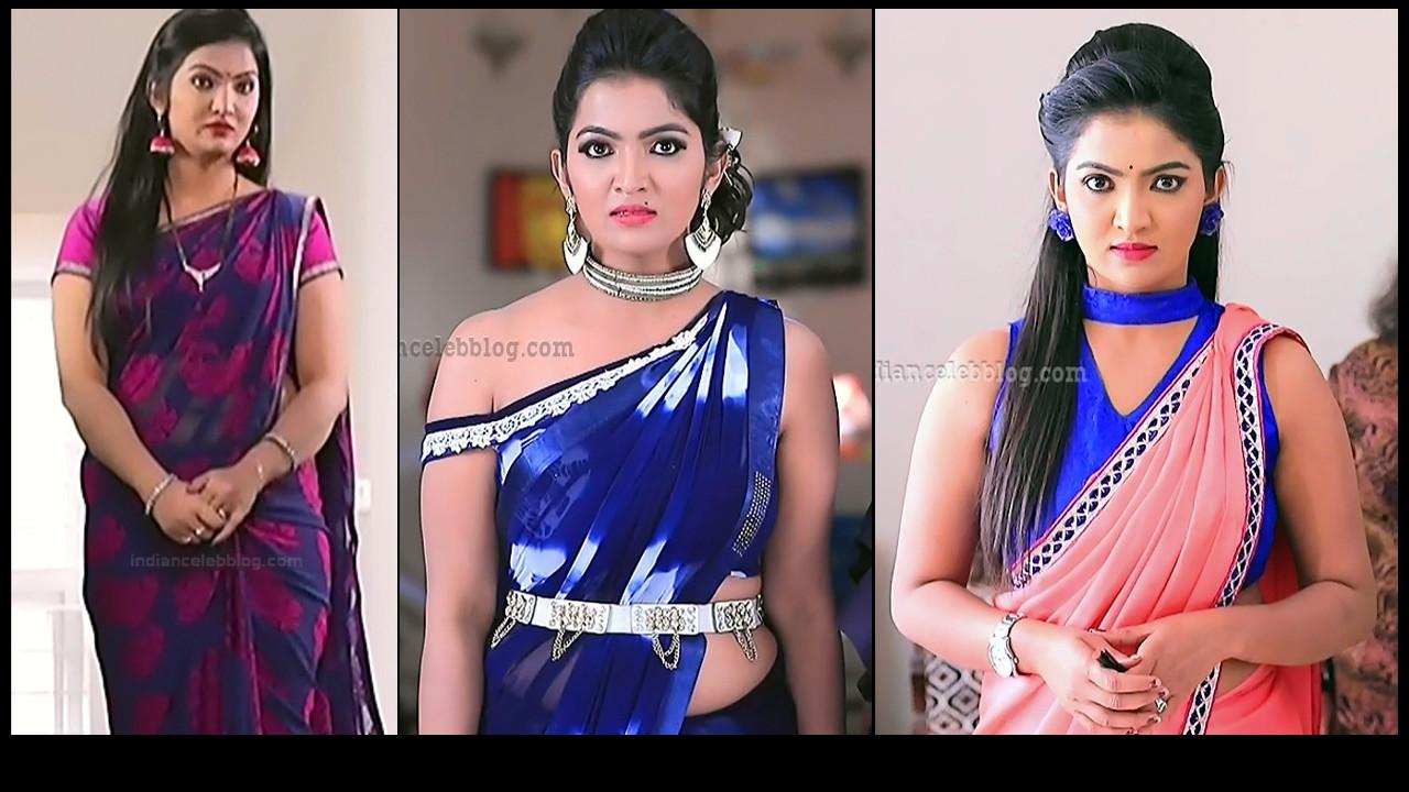 Radhika Minchu hot sleeveless saree HD tv caps