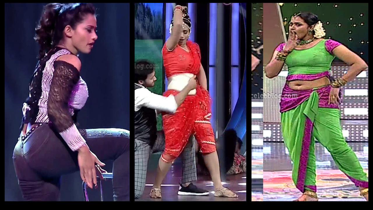 Bhavana TV actress hot reality dance show HD Caps