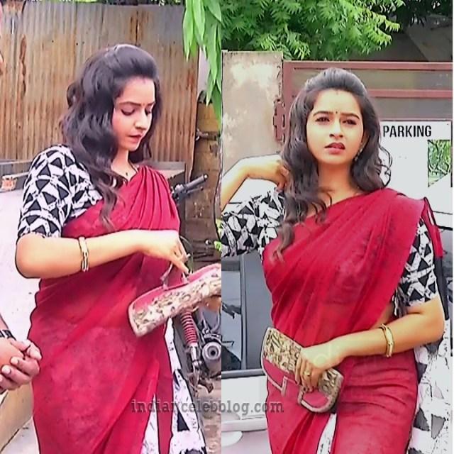 Divya ganesh tamil tv actress sumangali S6 6 saree pics