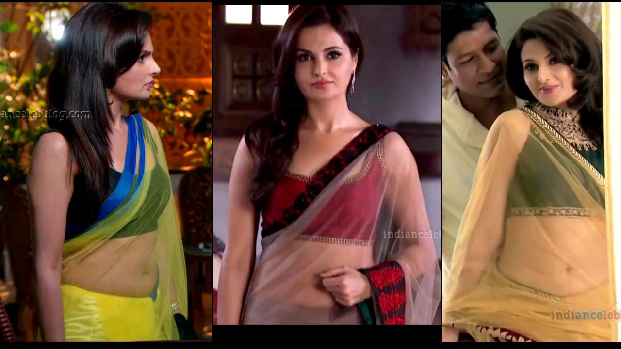 Monica Bedi hot navel show in low waist saree HD tv caps