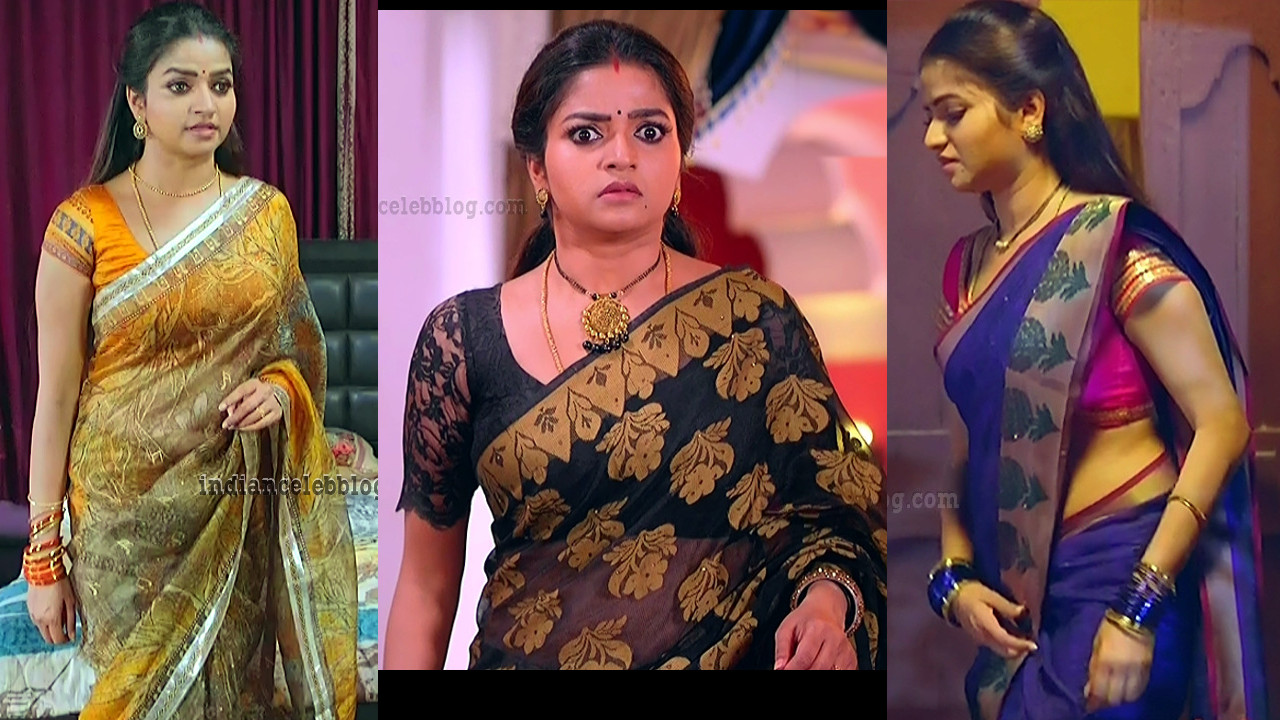 Nithya Ram Nandini TV serial Hot Saree Caps