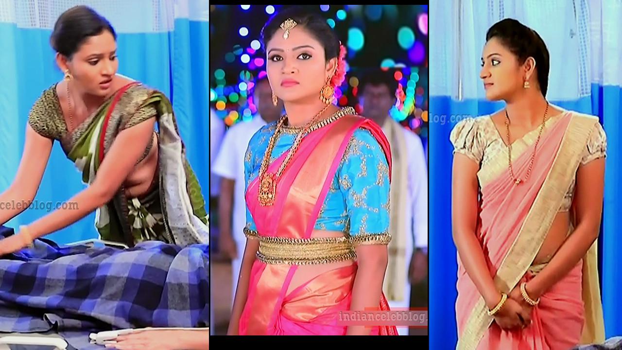 Ranjani raghavan kannada tv actress hot saree caps