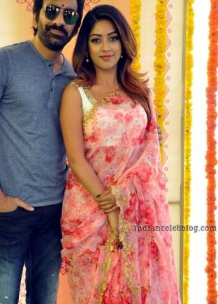 Anu Emmanuel Telugu film event S1 8 hot saree photo
