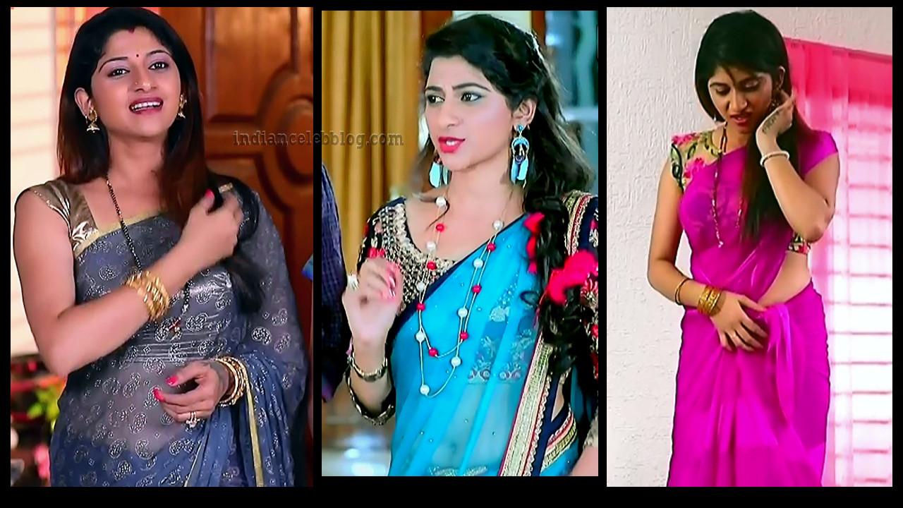 Kaveri Kannada serial actress sexy sari HD Caps
