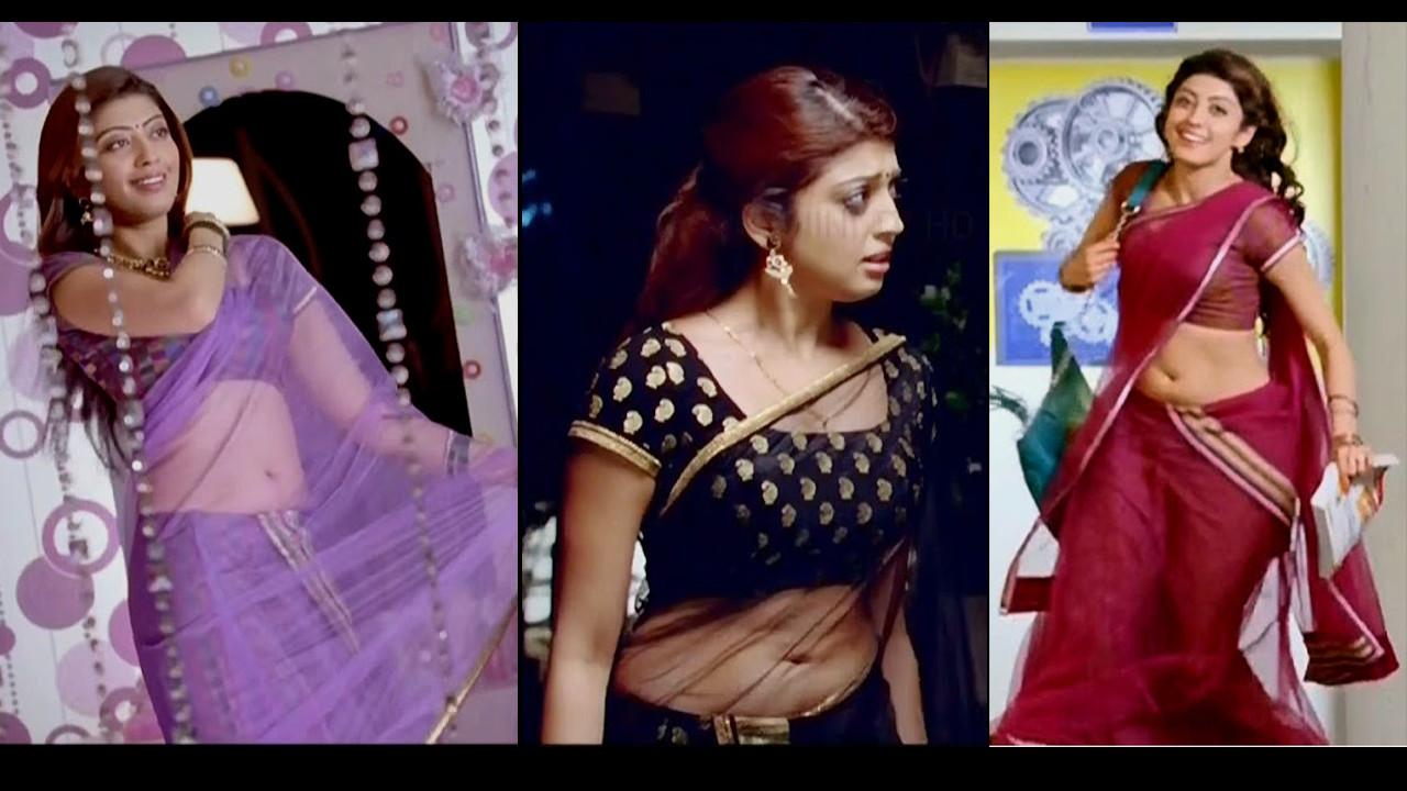 Pranitha Subhash Hot saree navel show Rabhasa HD caps