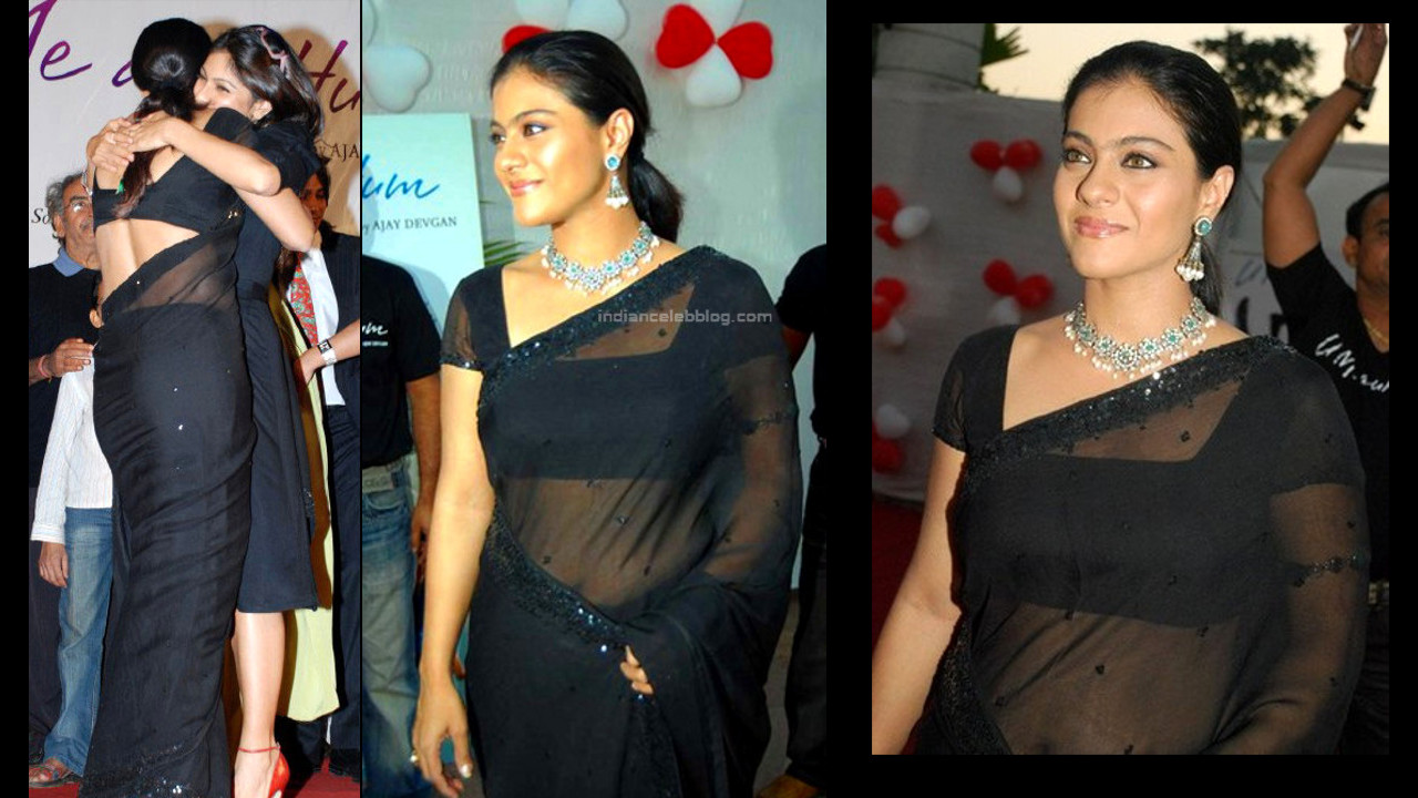 Kajol devgan navel show in transparent saree hindi event photos