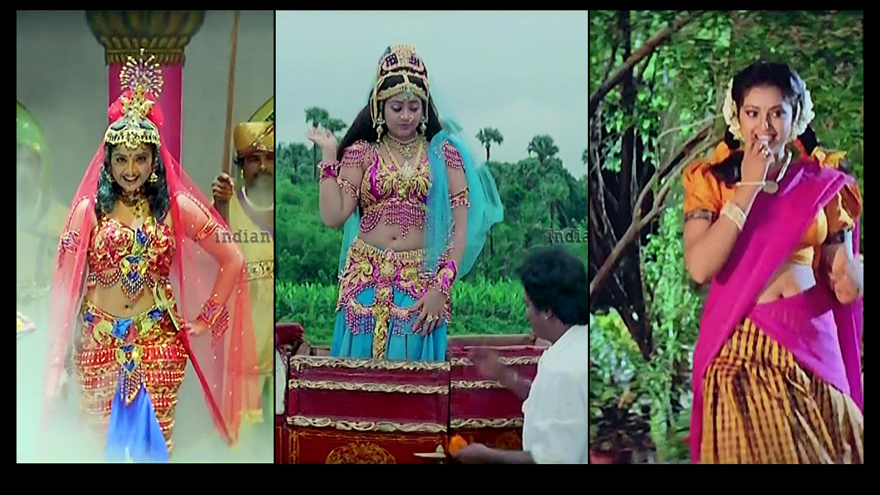 Meena Kollywood actress hot navel show caps from Muthu