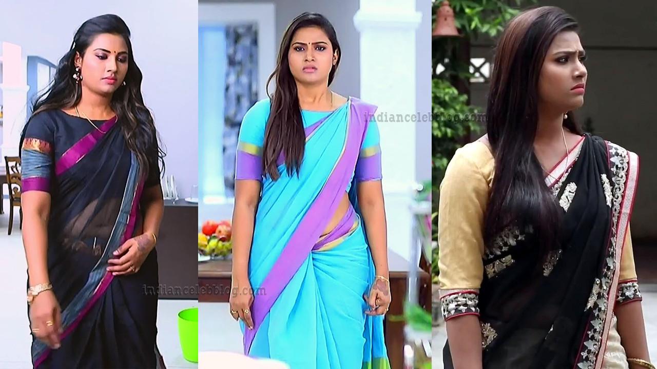 Myna Nandhini Tamil TV serial Saree Caps
