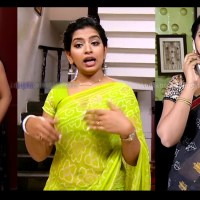 Akhila tamil tv serial actress hot Saree HD caps