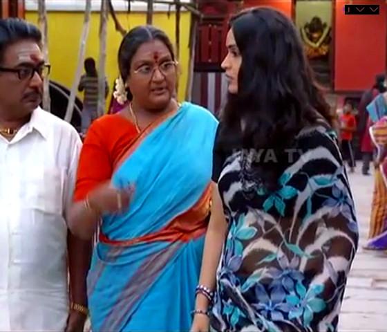 Kausalya_Tamil TV Actress-AKKA_9_Saree Navel