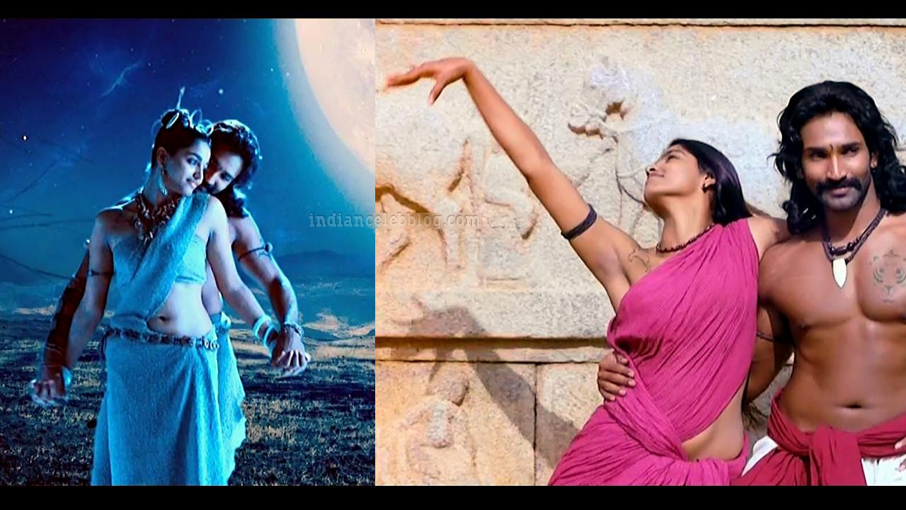 Sai Dhanshika Aravaan Tamil movie hot song caps