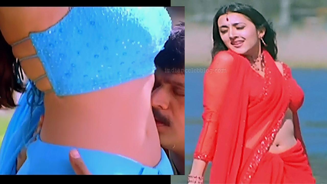 Sakshi shivanand hot navel show Vedham movie Caps