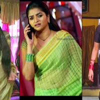 Nithya ram tv actress hot saree caps from Nandini tamil serial