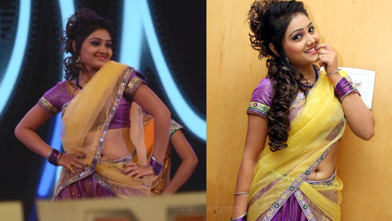 Priyanka Nalkar half saree dance at telugu event