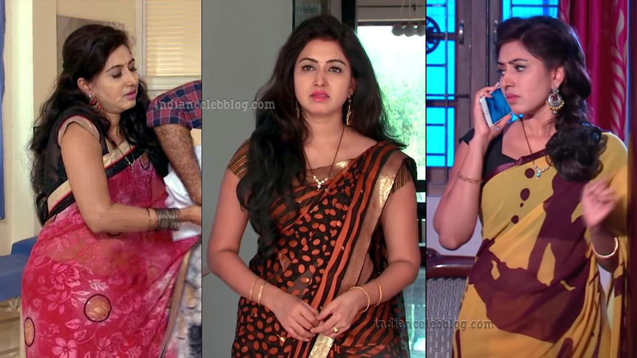 Revathi telugu tv serial actress hot saree caps