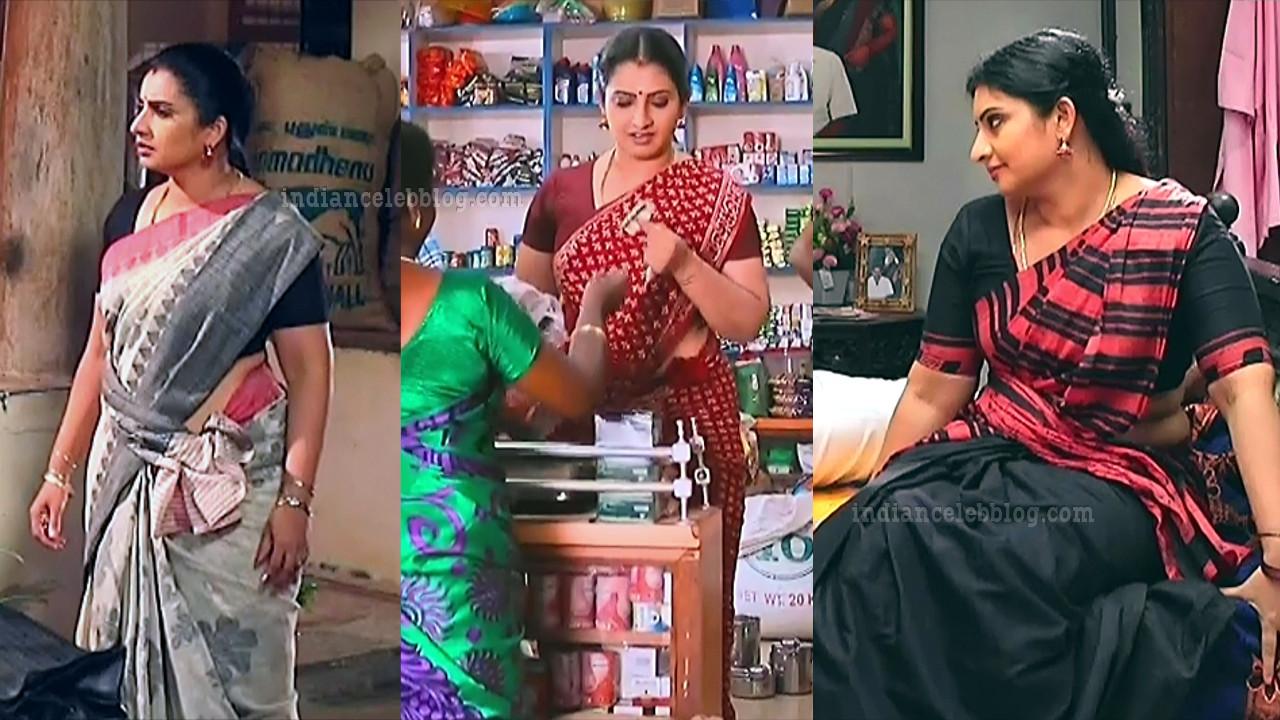 Sujitha tamil tv actress saree caps from Pandian stores