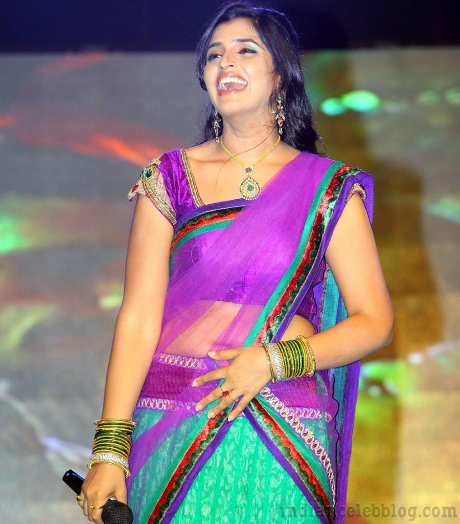 Anchor Syamala Telugu event hot Half saree pics – Indian Celeb Blog