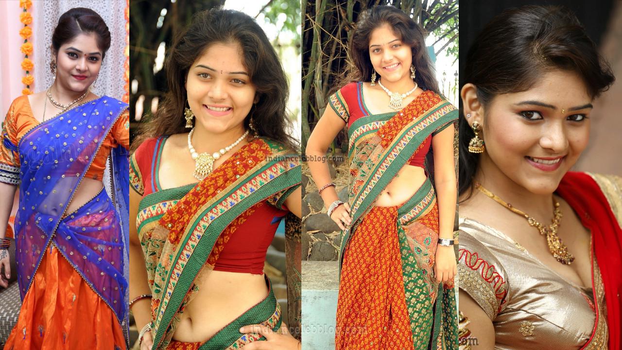 Telugu serial actress Haritha hot saree pics