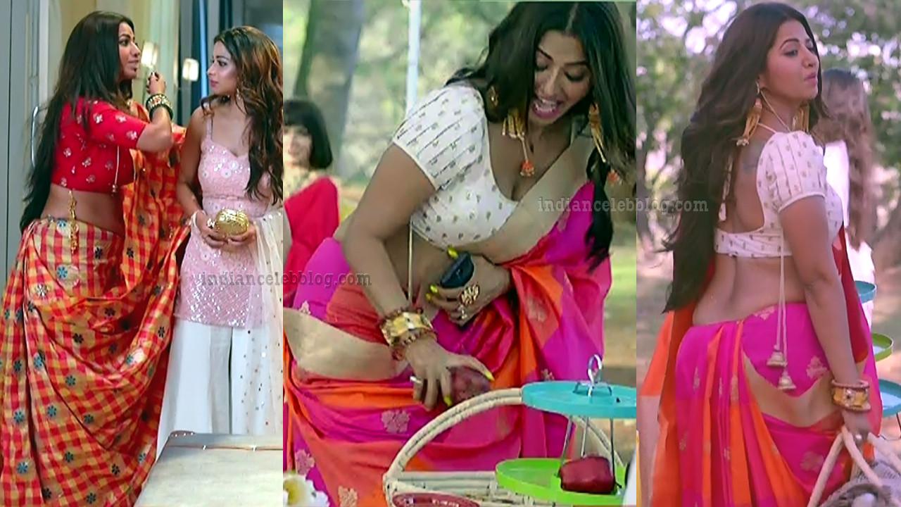 Ridheema tiwari hot saree caps from Divya drishti