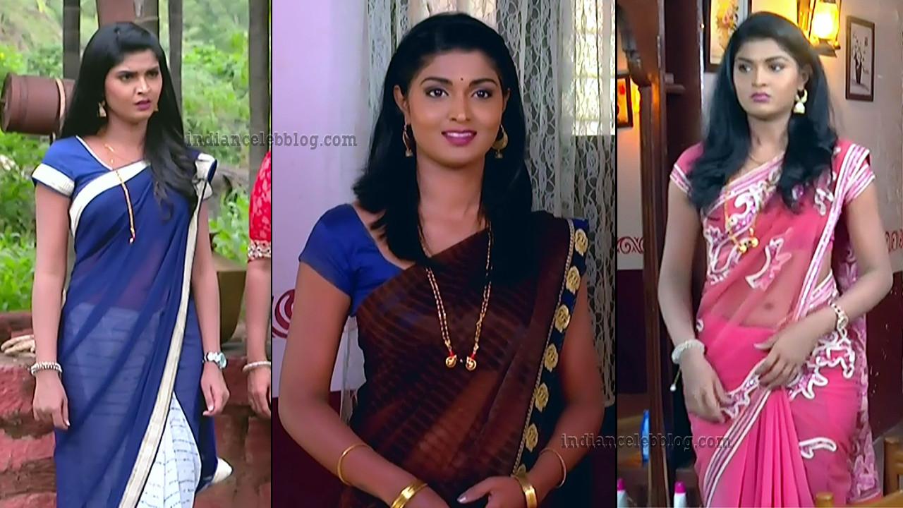 Manya Anand Kannada TV actress saree caps