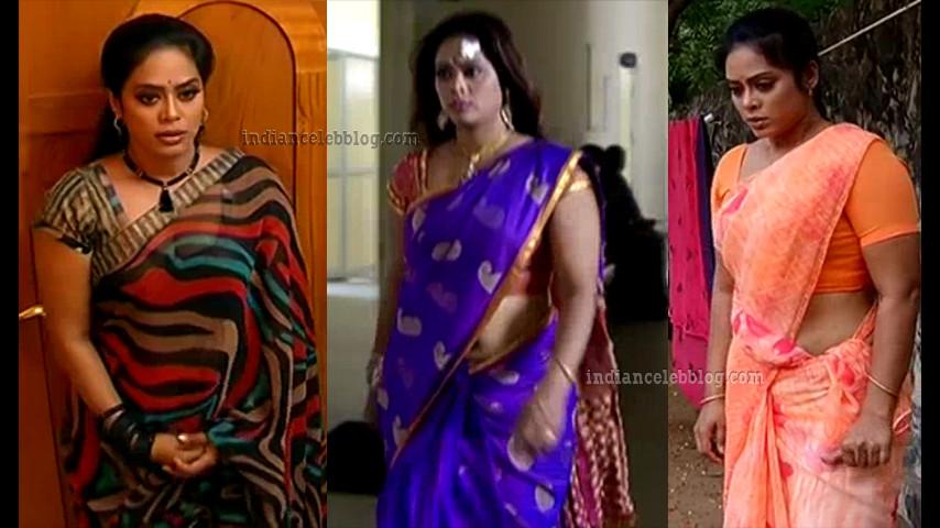 Devipriya tamil tv serial actress hot saree caps