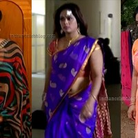 Devipriya tamil tv serial actress hot saree caps