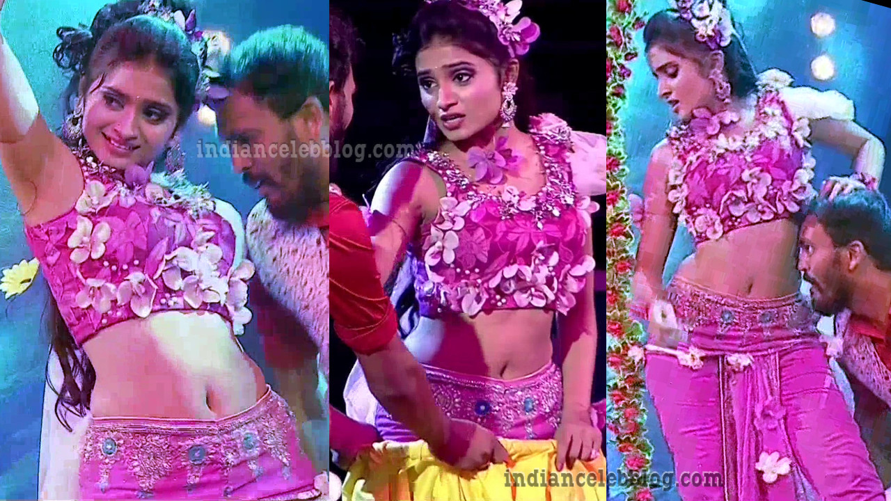 Varshini Arza  rangasthalam dance show hot caps
