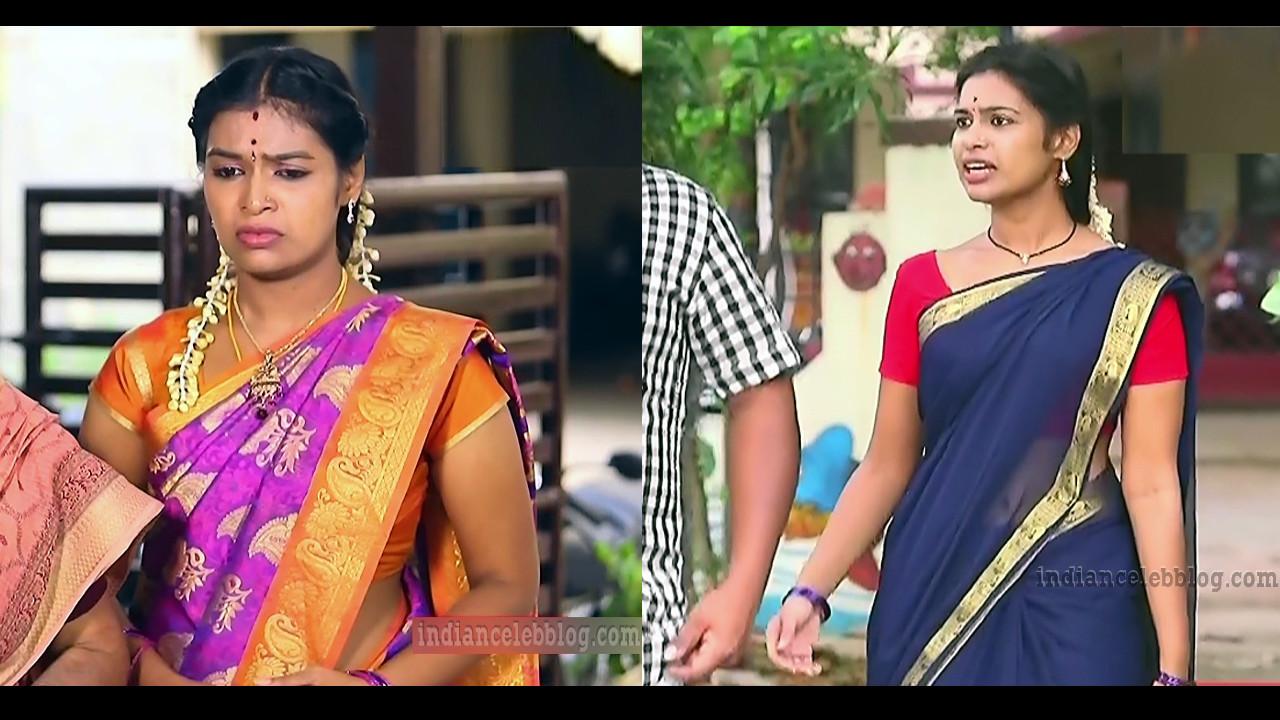 Dharsha gupta tamil tv actress caps from mullum malarum