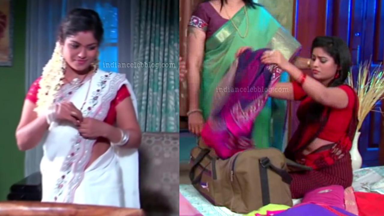 Alekhya telugu tv serial actress sari caps