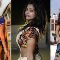 Dharsha gupta tamil tv actress hot saree photos