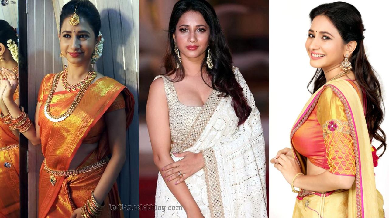 Manvita kamath sandalwood actress hot saree photo gallery