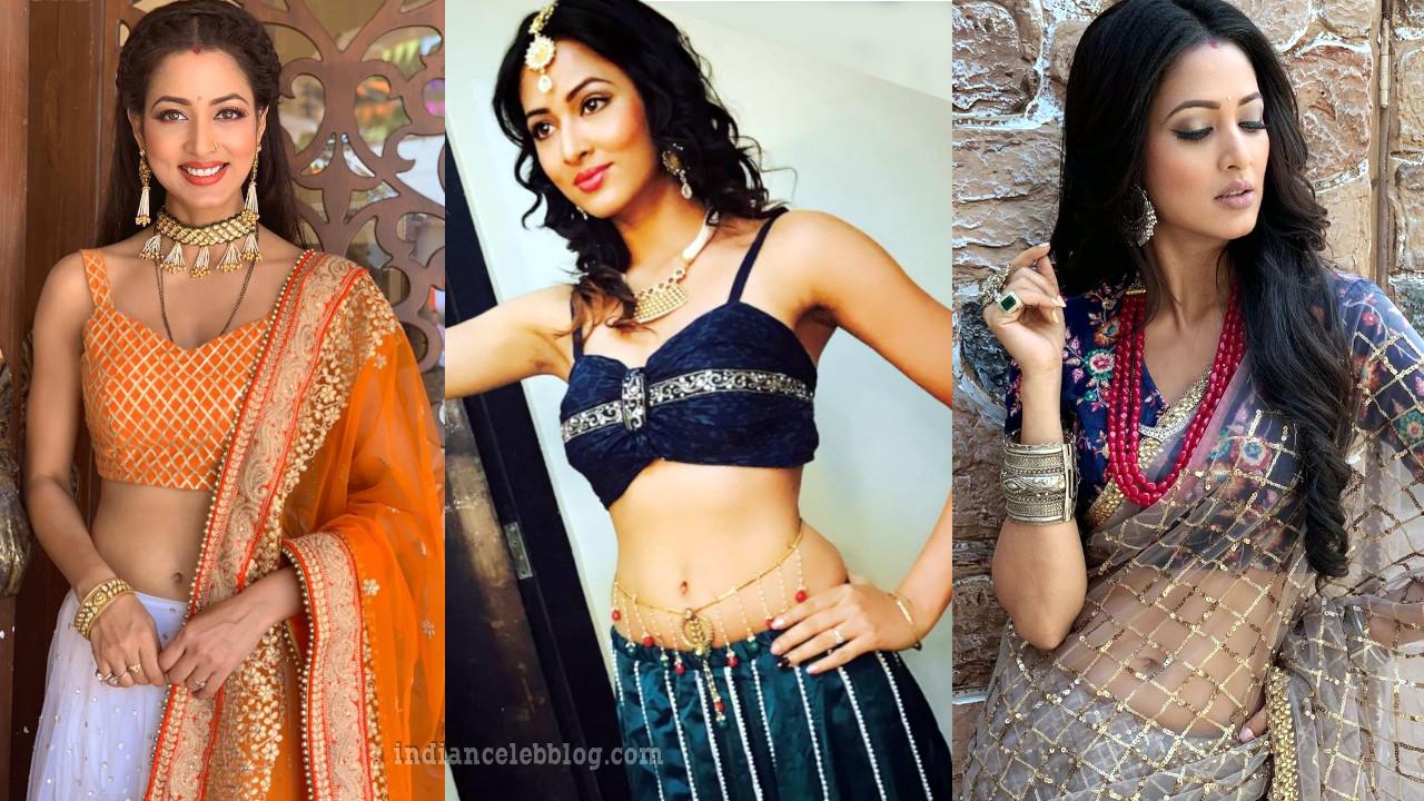 Vidisha srivastava tollywood actress hot pics in lehenga choli