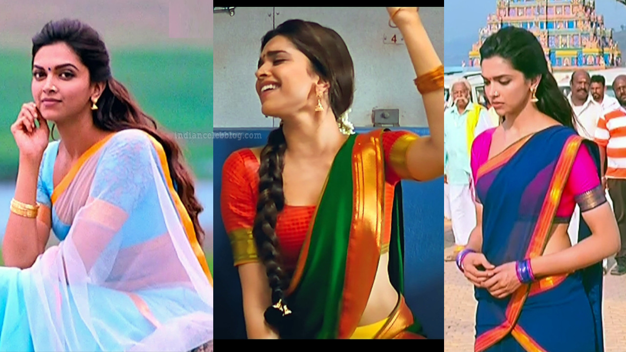 Deepika padukone hot saree pics hd caps from Chennai express