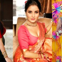 Archana gupta hot backless blouse saree photos