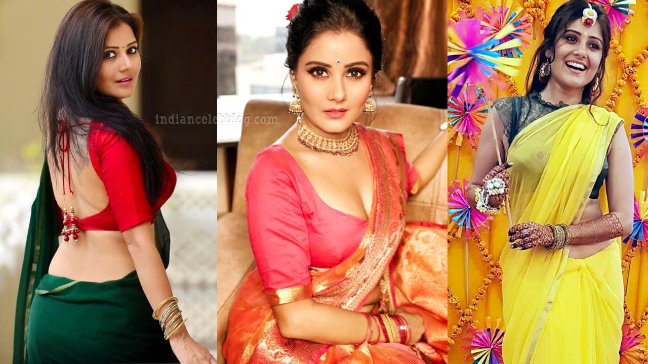 Archana gupta hot backless blouse saree photos