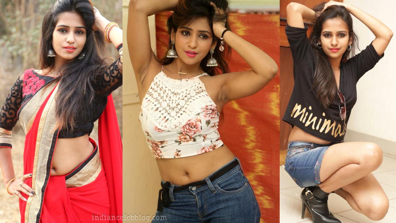 Deekshitha parvathi hot armpit show in sleeveless crop top pics