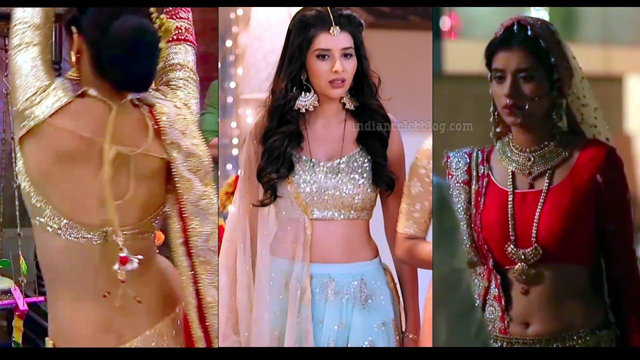 Charu asopa tv celeb sexy backless lehenga choli hd caps