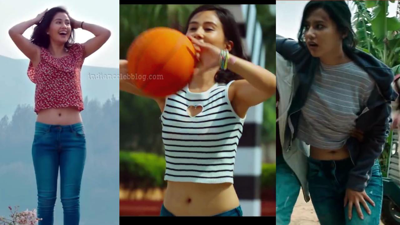 Sasha chettri Airtel 4G navel show telugu movie HD caps