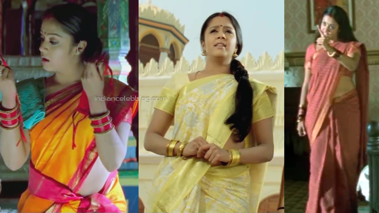 Jyothika hot saree pics HD caps from Chandramukhi