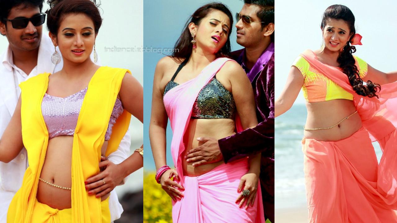 Harshika poonacha kannada actress hot navel show
