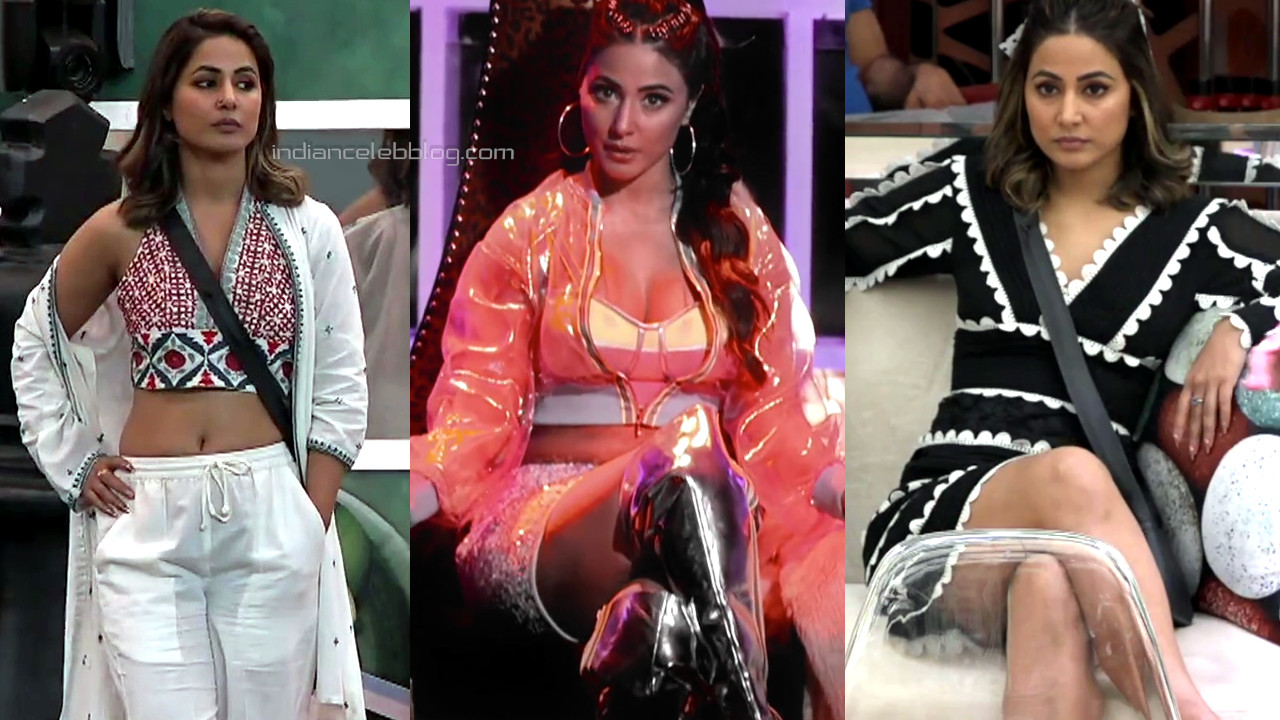 Hina khan hot cleavage show bigg boss 14 premiere