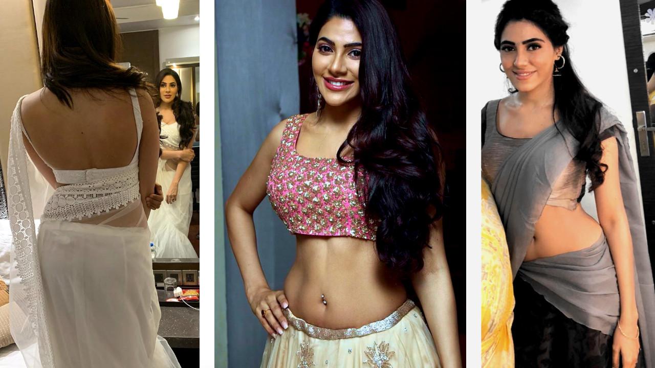Nikki tamboli kanchana 3 actress hot lehenga pics