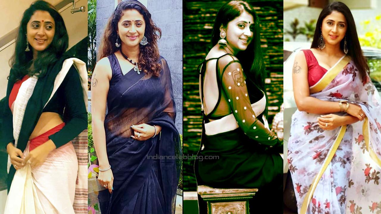 Kaniha malayalam actress hot saree photo gallery