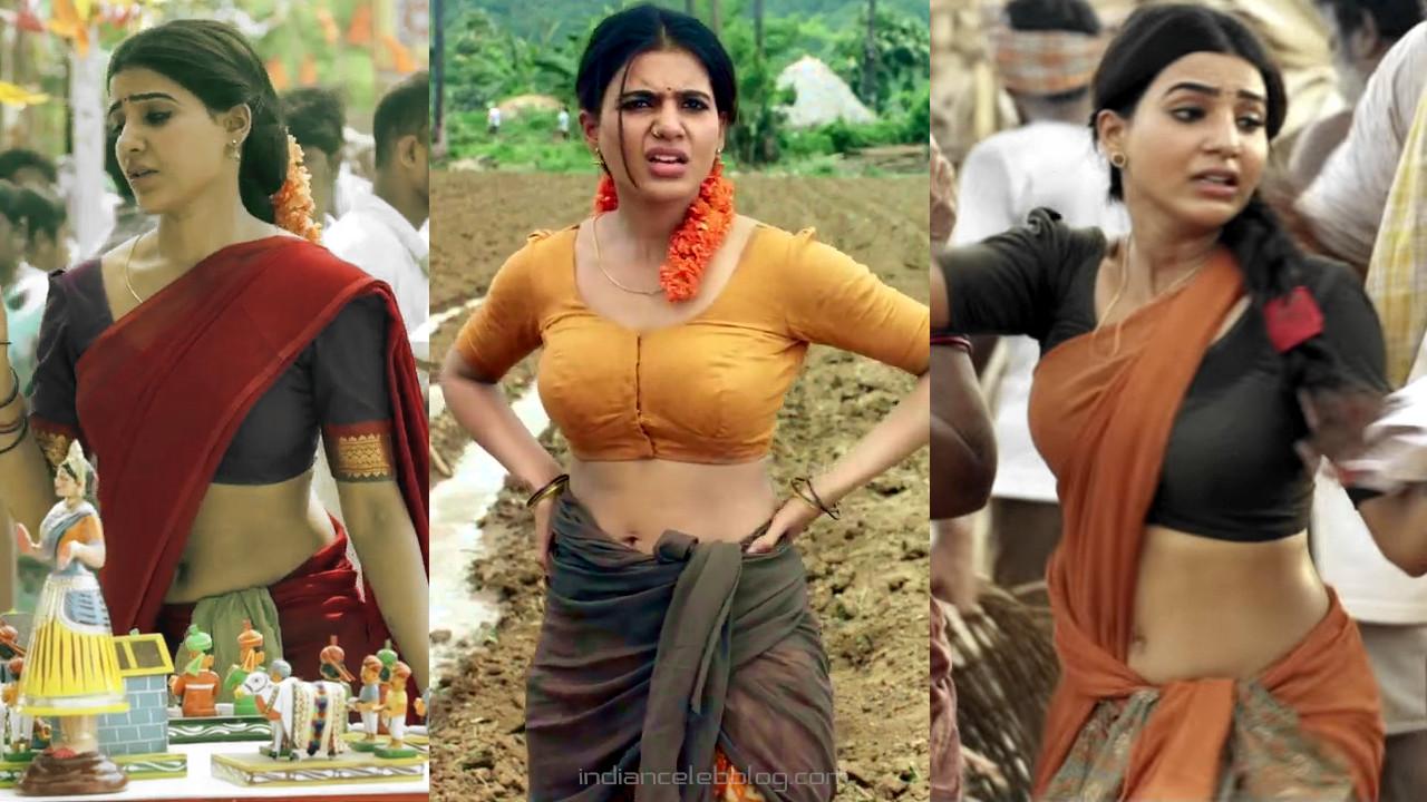 Samantha sexy navel show in half saree tollywood hd caps.