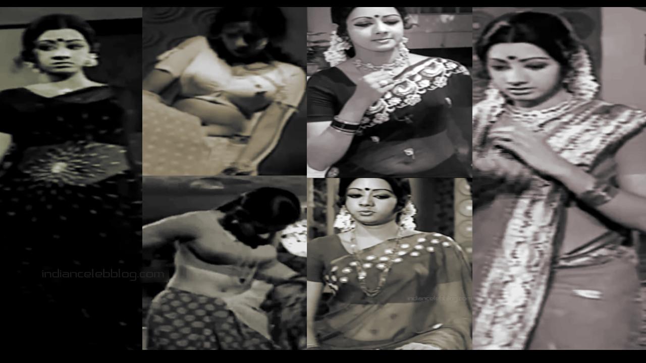 Sridevi hot navel transparet sari pics caps tamil movie gayathri