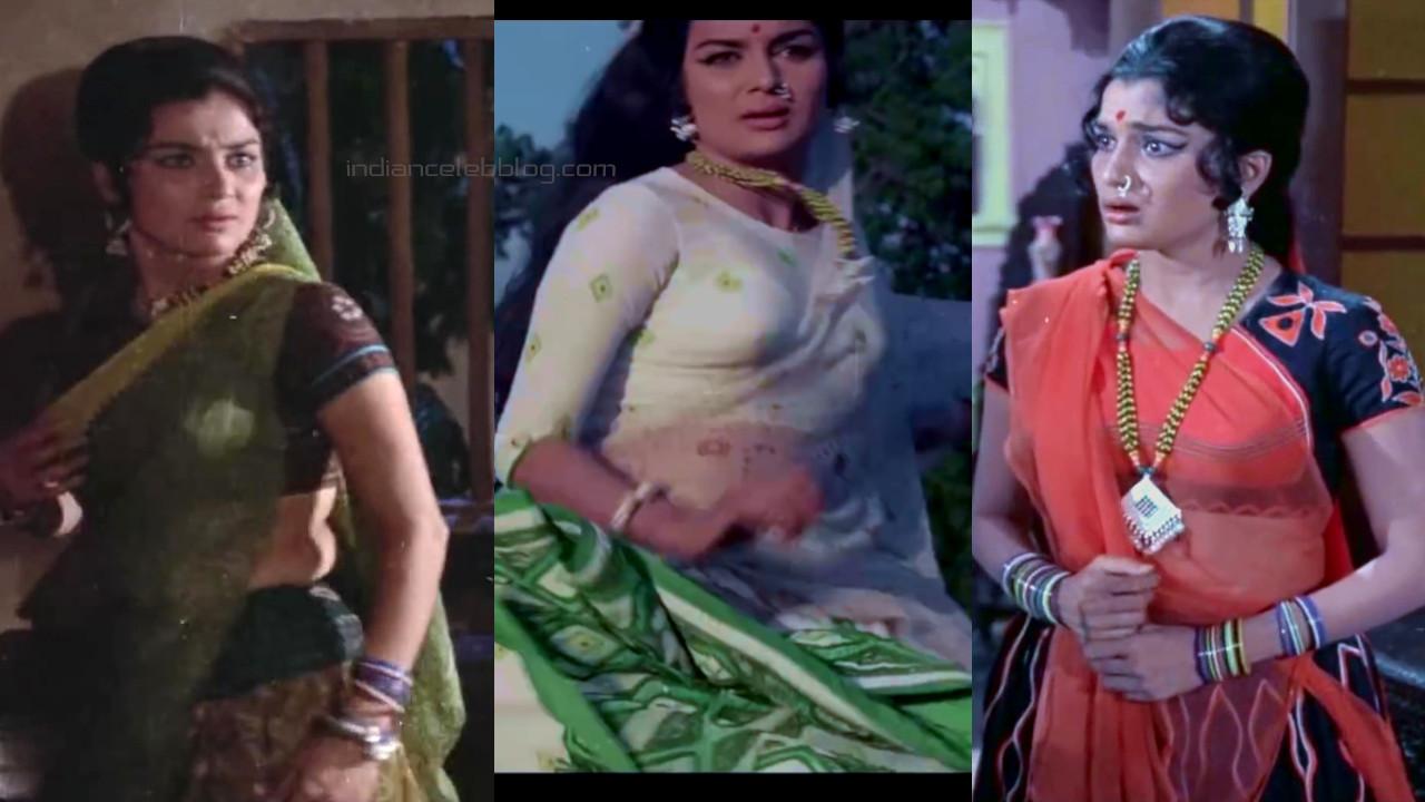 Asha parekh bollywood old actress saree pics movie caps