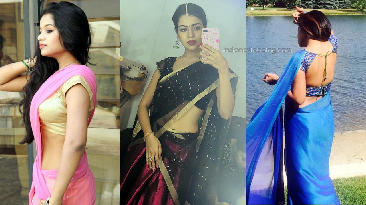Bhavya sri tollywood actress hot saree pics gallery.