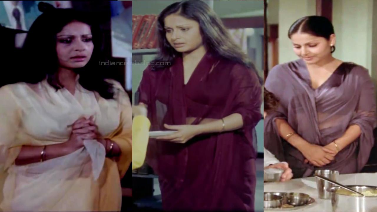 Rakhee gulzar bollywood yesteryear actress hot saree pics hd caps