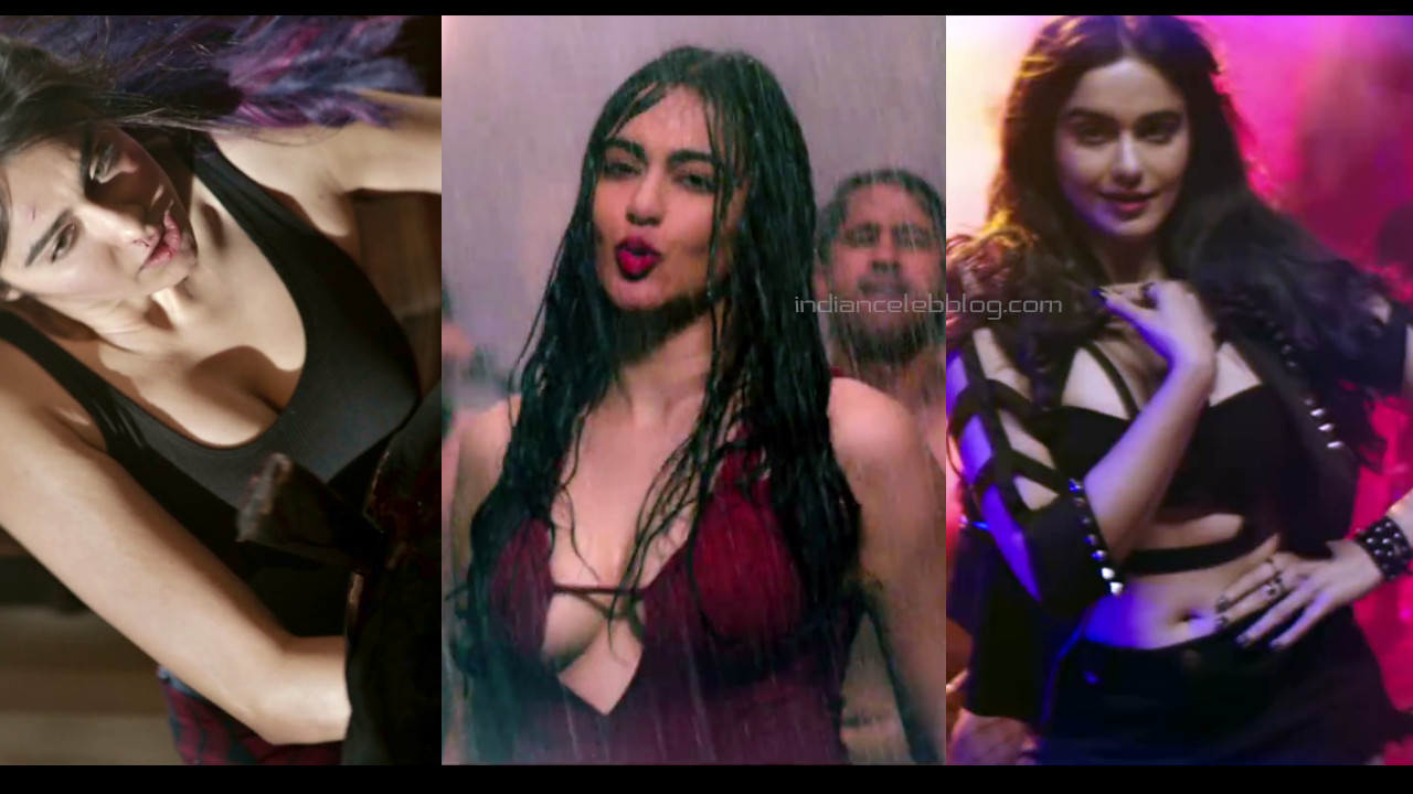 Adah Sharma bollywood sexy cleavage show photos hd caps